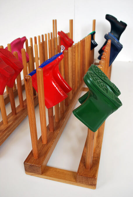 oak school boot rack