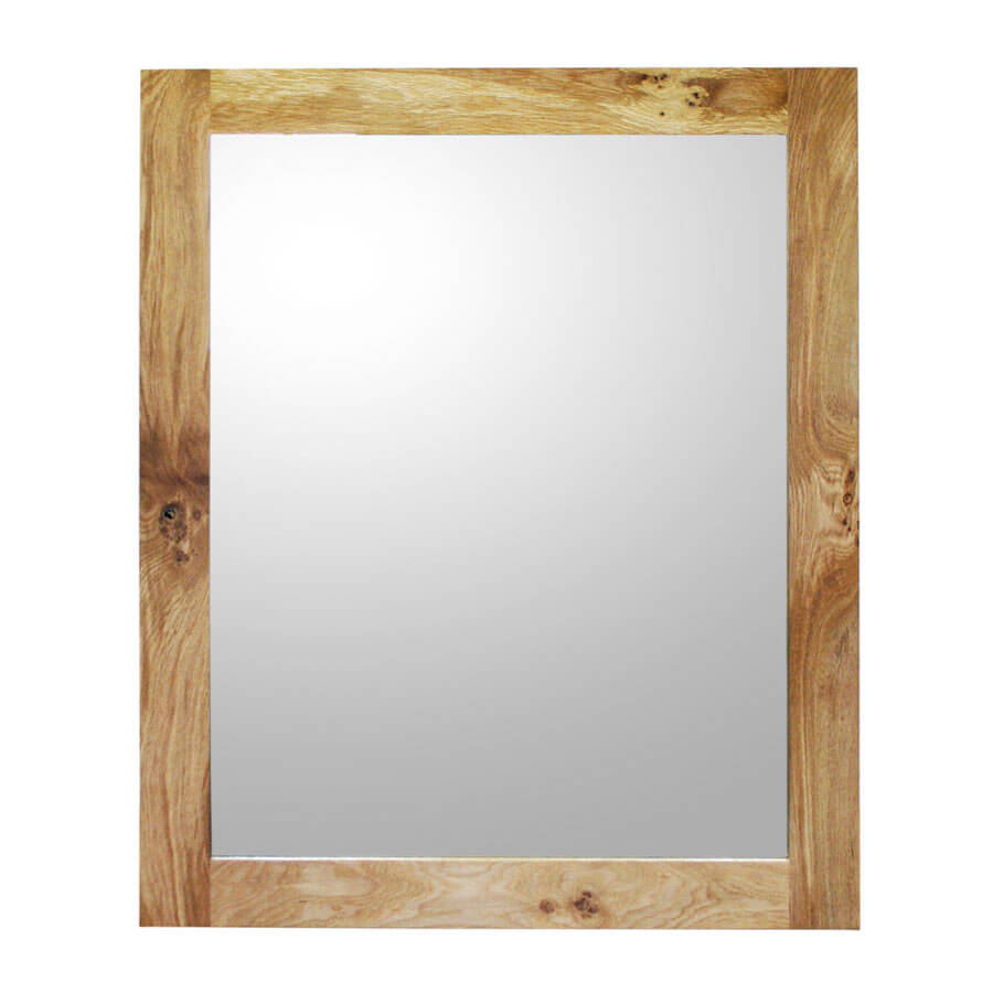 Oak framed mirror xl boot and saw for Furniture and mirror