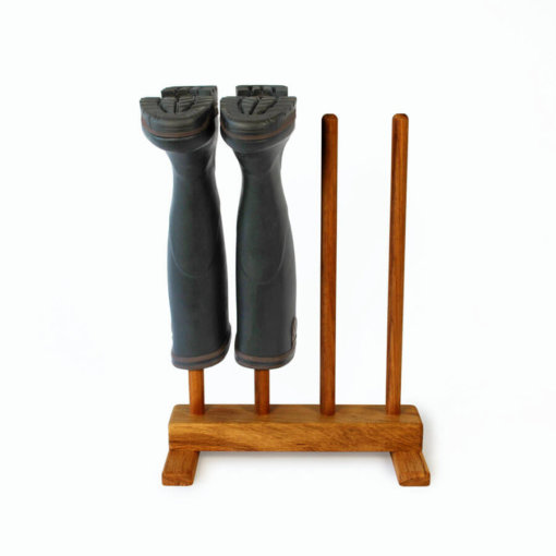 Oak Welly Boot Rack for 2 pairs of wellingtons