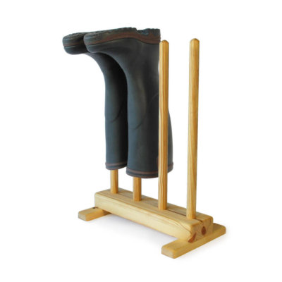 Pine Welly Boot Stand for 2 pairs of wellies
