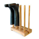 Wooden Welly Boot Stand for 4 pairs of boots