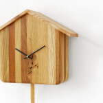 cuckooless clock oak