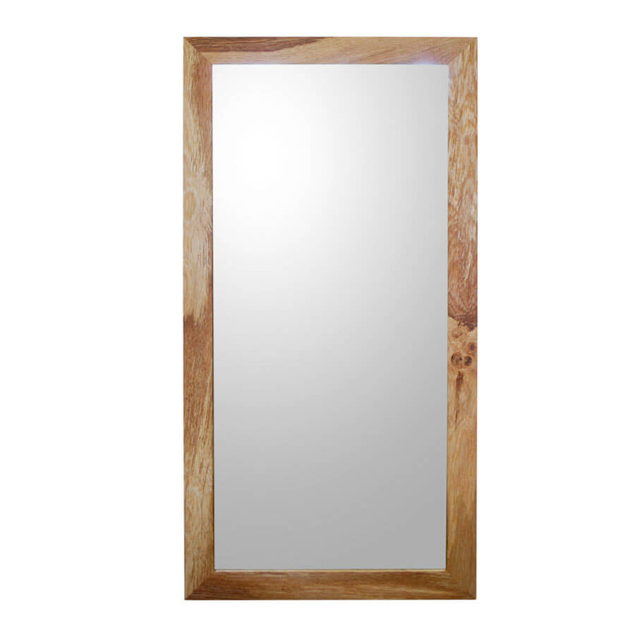 Oak framed mirror large for Big framed mirror