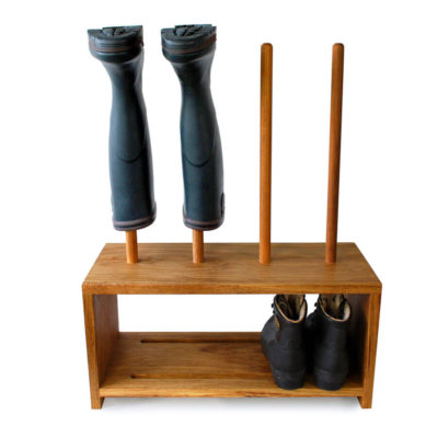 Oak Shoe and Boot Rack for 2 pairs of wellies and shoes