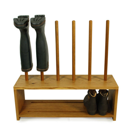 Oak Shoe and Boot Rack for 3 pairs of wellies and shoes