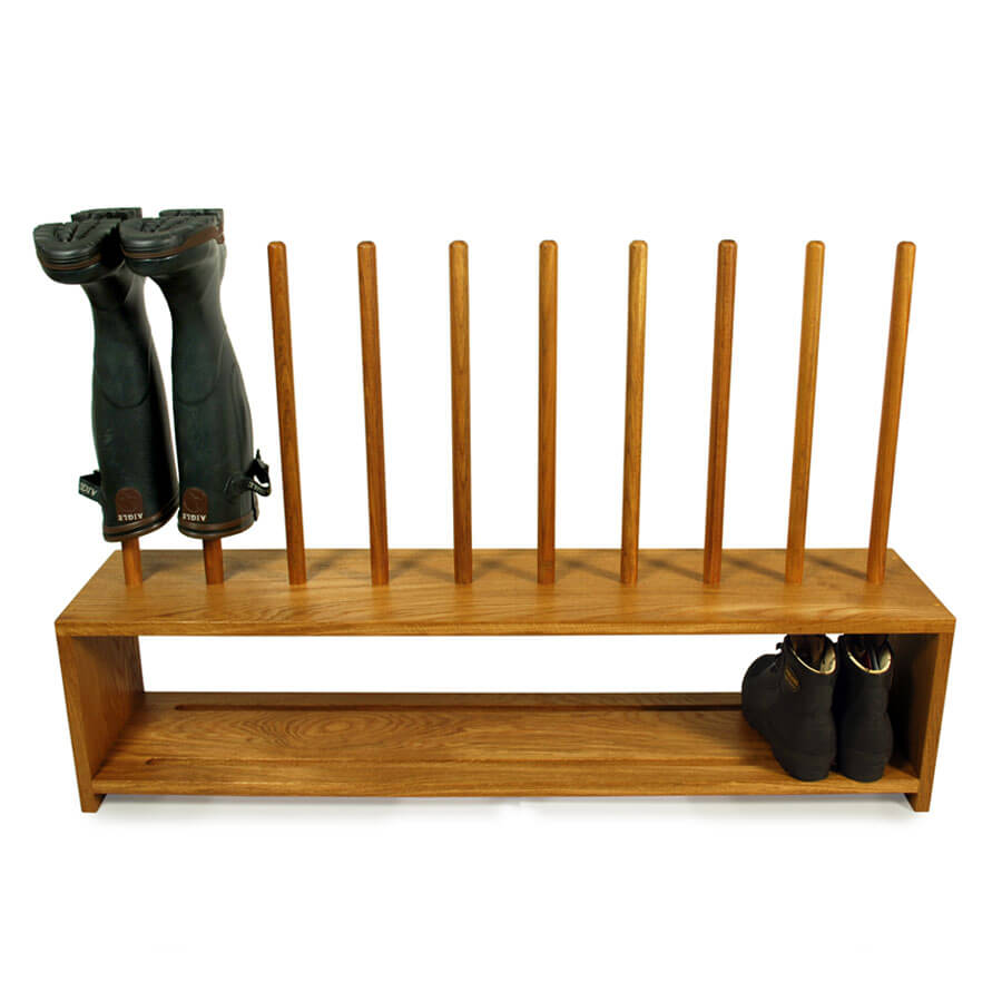 Perfect Free Coat And Boot Rack Image: Oak Wellington And Shoe Rack For 5prs Of Wellys