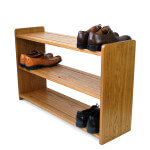 oak shoe rack shelf