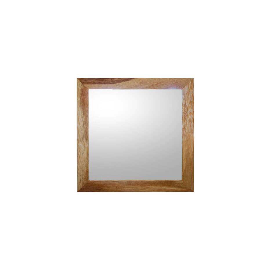 oak framed mirror small