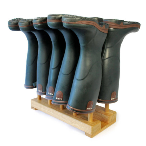 Oak Welly Rack for 5 pairs of wellingtons