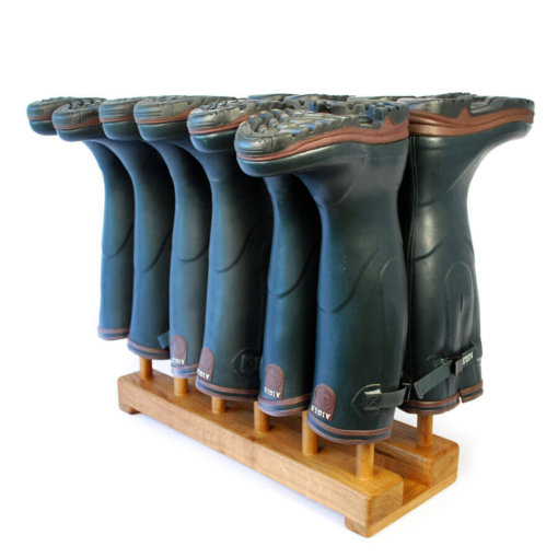 Oak Welly Rack for 6 pairs of wellingtons