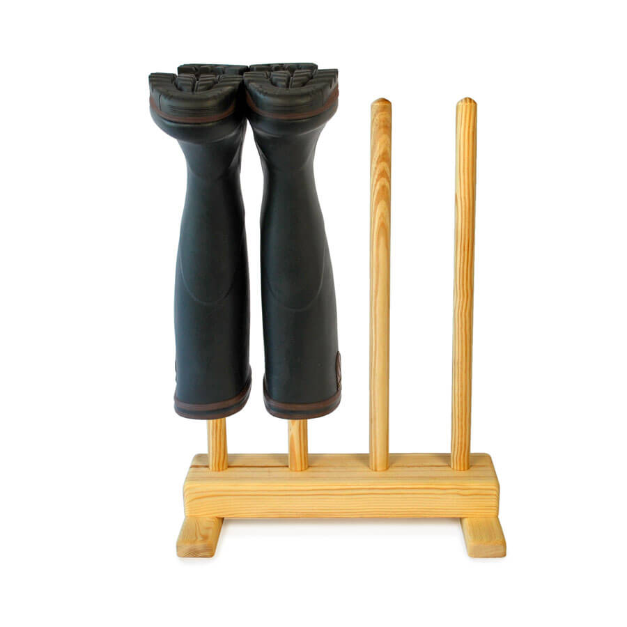 Wooden Welly Boot Stand For 2prs Of Welly Boots