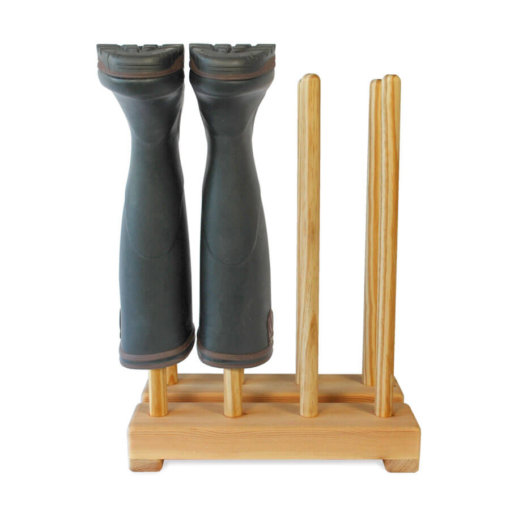 Pine Welly Boot Stand for 4 pairs of wellies