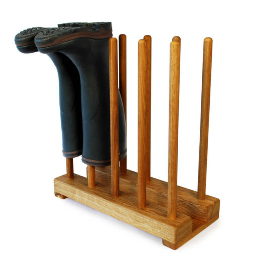 Oak Welly Stand for 5 pairs of wellingtons