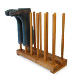 Oak Welly Stand for 6 pairs of wellingtons