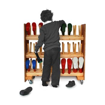 3 Tier Welly Rack for Schools
