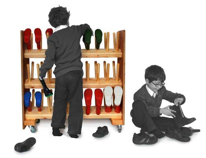 3 Tier School Welly Boot Rack