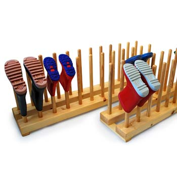 Floor standing welly boot racks for schools