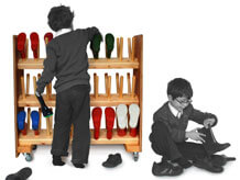welly boot rack for schools
