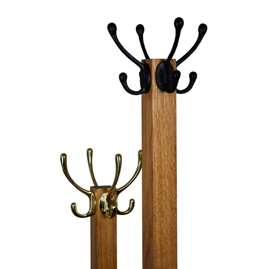 Oak Coat And Hat Stand Boot And Saw