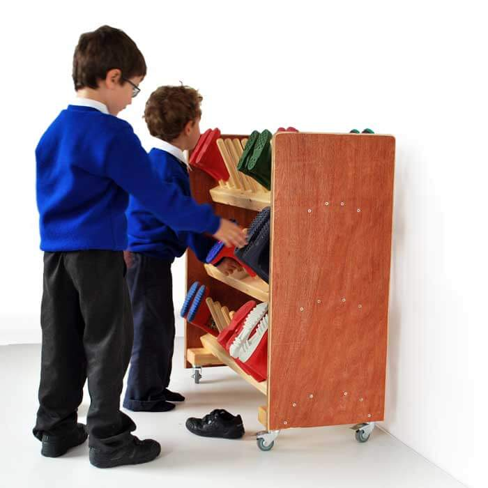 Wheeled Nursery Kids Welly Storage