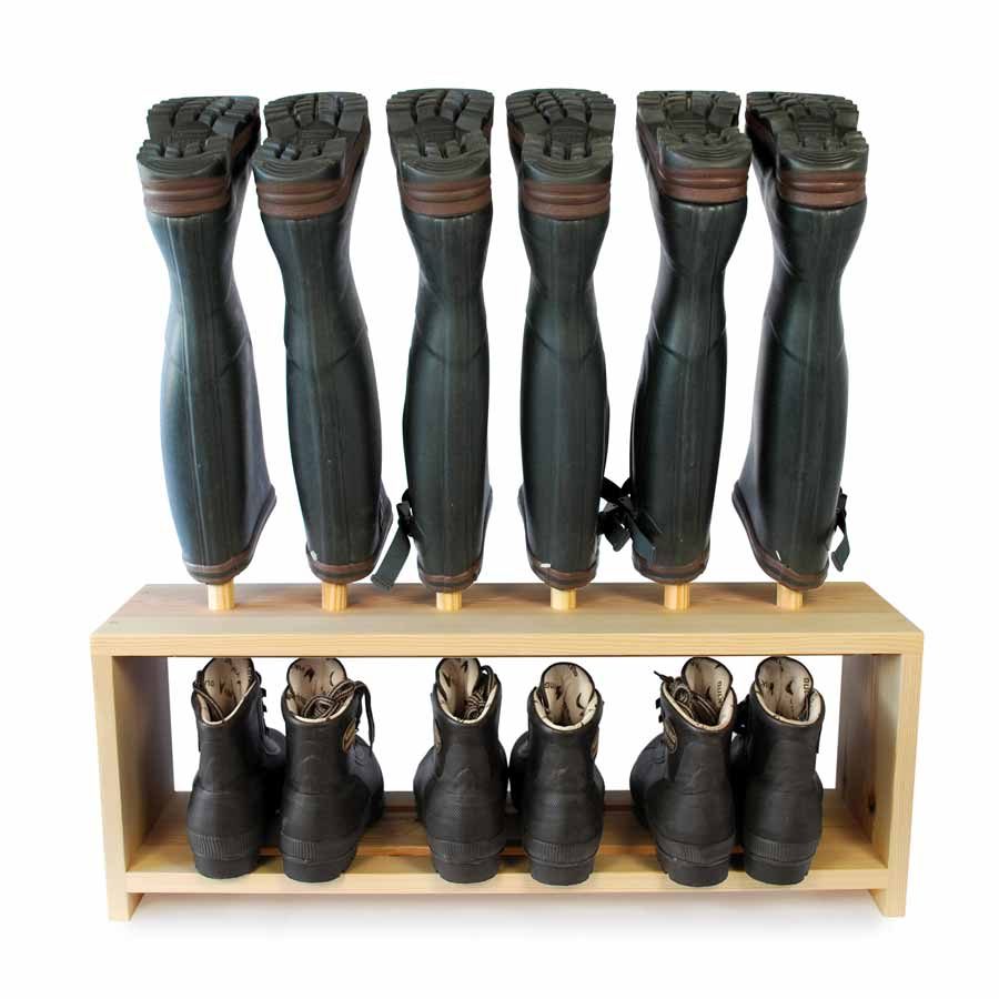 Wooden Welly Boot Rack for 3 pairs of shoes and wellies  sc 1 st  Boot u0026 Saw & Wooden Welly Boot and Shoe Rack for 3prs of boots | Boot u0026 Saw