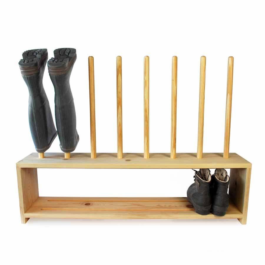Wooden Welly Boot And Shoe Rack For 4prs Of Boots Boot Amp Saw