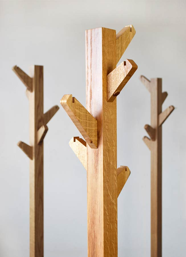 Coat Tree Oak Coat Stand Hand Crafted In Solid Oak Boot