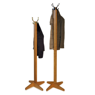 Solid Oak Coat Stands in a choice of sizes with brass or wrought iron hooks